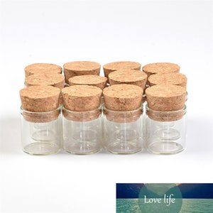 22*25mm 4ml Small Glass Vials Jars Test Tube with Cork Stopper Empty Glass Transparent Clear Bottles 100pcs lot