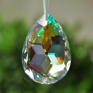 38mm Clear Crystal Drops Chandelier Pingente Lâmpada Prismas Prismas Chrismas Decoração Pendurado SunCatcher 38mm Clear H Jllnfe