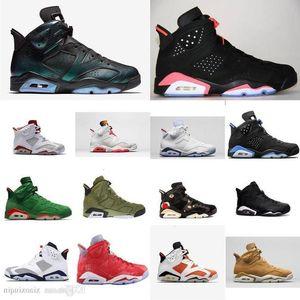 Cheap Men Retro 6s basketball shoes for sale J6 Infrared Black Blue UNC chameleon Slam Dunk Tinker AJ6 Jumpman VI sneakers tennis with