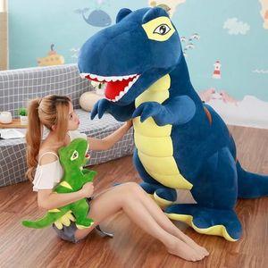60cm 90cm Cartoon Dinosaur Plush Toys Hobbies Huge Tyrannosaurus Rex Plush Dolls Stuffed Toys For Children Boys Classic Toys 1011
