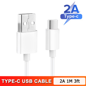 New High speed USB-C 1M 3ft 2M 6ft Fast Charging Type C Cable Charger for Samsung Galaxy S8 S9 S10 note 9 10 Universal Data Charging Adapter
