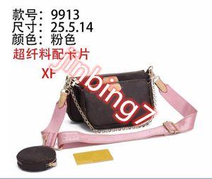 M9913 Handbag Women handbags Multi pochette bag Chain Crossbody bag Fashion Small Shoulder Bag 3 pcs purse multi color straps 03