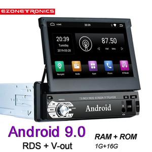 Автомобиль Audio 1G + 16G Android 9.0 RDS Универсальный 1din Мультимедийный плеер GPS Navi 1024x600 Сенсорный экран WiFi FM BT Зеркальная ссылка Дистанционное управление