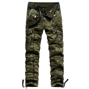 Mens Cargo Pants Military Camo Tactical Trousers Straight Overalls Large Size Pantalones Army Sweatpants Climbing Pant X1218