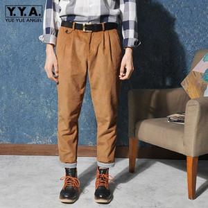 Vintage Autumn Mens New Corduroy Pencil Pants Casual Streetwear Ankle Length Trousers Male Harajuku Cargo Pants Pantalone Hombre