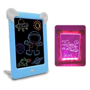 LED Luminous Drawing Board Electronic Fluorescent Writing Board Children Light Painting Message Board