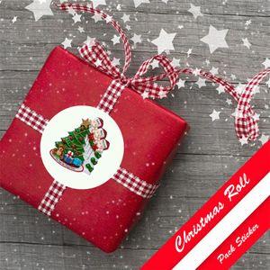 Карантин выживший рождественские наклейки круговой бумаги уплотнительные этикетки наклейки для пекарни упаковочные украшения подарки канцтовары HWC2576