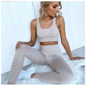 Designer Yoga Sportwear Tracksuits Fitness 2pcs Gymshark same stlye Leggings outdoor outfits Sports Bra indoor suit Clothing Athletic solid