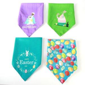 1 stück Double Ostern Pet Saliva Bunny Eggs Handtuch Hund Dreieck Schal Pet Supplies Tier Ostern Dekoration