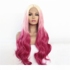 Ailin Welle Full Synthetic Lace Front Remy Perücke 26 Zoll Pelucas Simulation Human Hair Lacefront Perücken AL1004-4