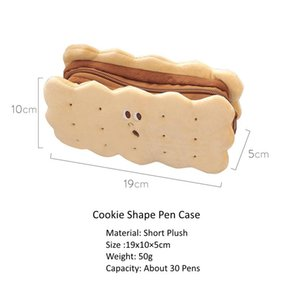 Simple And Lovely Creative Sandwich Biscuit Plush Pencil Bag Large Capacity Student Pencil Bag Factory Wholesale