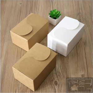 10pcs 15.5*10.5*8.5cm Large Kraft paper Cake Box Party Cupcake Gift Bakery Pastry Cookies Packaging Paper Box