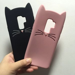 Cute Cat Phone Case For Samsung Galaxy S9 S8 Plus J1 J3 J5 J7 2015 2016 S3 S4 S5 S6 S7 Edge Duos A3 A5 2017 A320 A520 Cover Soft