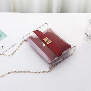 Womens handbags PVC Clear Satchel Bag Fashion Transparent Shoulder Crossbody Bags Ladies Messenger Casual Small Handbags
