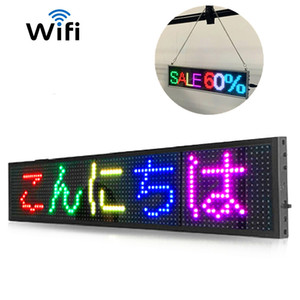 110-220V 50cm 19.6inch Nueva P5MM muestra llevada APP wifi programable mensaje de desplazamiento LED Display Board Panel de visualización