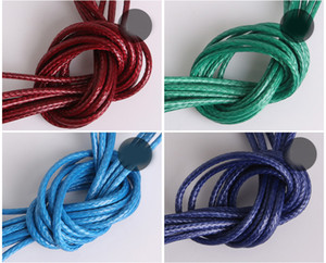 15m  roll 1mm Colorful Wax Leather Necklace strap buckle shrimp Pendant Jewelry Components Leather cord lanyard for Chain DIY Components
