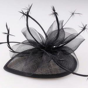 Bianco Sinamay Fascinator Headwear Cappelli elegante cocktail nuziale capelli Wedding Accessories Milliney Cappelli di alta qualità