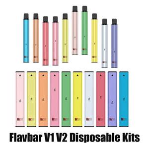 Authentic Flavbar V1 V2 Kit dispositivo di pod monouso 300 1000 sbuffi 650mAh 2.8ml Pods premilled Pods VAPA Penna Plus XXL 100% originale
