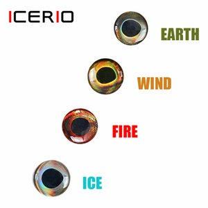 ICERIO 50 UNIDS Holográfico 3D 4D Epoxy Epoxy Eyes para mosca atar streamers Pesca señuelos madera plástico señuelo haciendo q0104