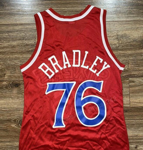 Billig benutzerdefinierte # 76 Shawn Bradley Basketball Jersey Männer Alles genäht jeder Größe 2xs-3XL 4XL 5XL Name oder Nummer Kostenloser Versand Top Qualität