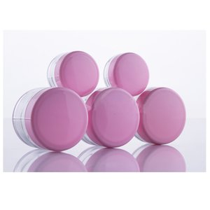 Pink Cap Empty Plastic Clear Jar 5Gram Sample Size Cosmetic Cream Pot Make-up Eyeshadow Lip Balm Container Bottle Nail Art