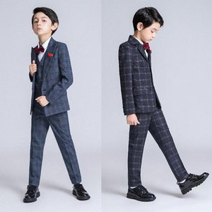YuanLu Kids Suits Formal For Wedding Blazer 3PCS For Boys Slim Fit Party Appointment (Blazer+ Vest +Pants) Children Clothes MQXK#