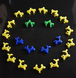 Più economico! 14mm 19mm Plastica Keck Clip K-clip K-clips Nettare Collezionista Laboratorio Laboratorio Laboratorio Clip Clip Plastica per Bong Bongs Adattatore per tubi dell'acqua