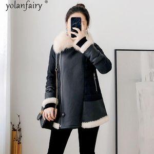 2020 Real Fur Coat 90% White Duck Down Jacket Women Fur Collar Winter Clothes Women Motorcycle Leather Jacket Femme Veste