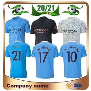 20 21 Manchester KUN AGUERO Home Soccer Jersey 2020 Away Man City MAHREZ DE MAHREZ BRUYNE SILVA JESUS SANE 3rd Football shirt Uniform