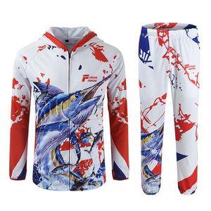 2020 New Fishing Clothing Long Sleeve Men Jackets Sun Uv Jacket Fishing Shirt Jerseys Cycle Hooded Clothes