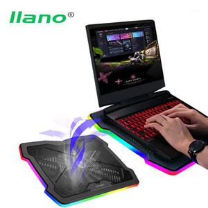 Llano innerhalb von 18 Zoll Gaming Laptopkühler Ein großer Lüfter-Laptop-Kühlkissen-Full Surround RGB-Marquee-Notebook-Kühlerständer1
