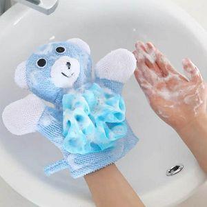 Baby Washcloths Children Chuveiro Banheira Banheira Toalha 5 Cores Animais Estilo Chuveiro Lavagem Toalhas de Pano Bonito Luvas de Banho Crianças Bath 65 O2