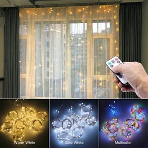 3m LED luzes de fadas Garland Cortina Lâmpada Controle Remoto USB Luzes Cordas Decorações de Natal de Ano Novo para Home Quarto Janela