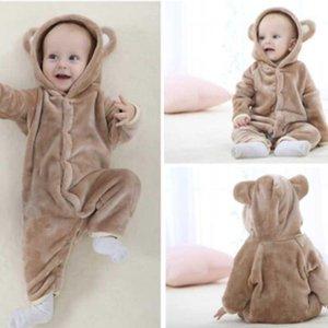 crianças roupas romper sleepshirts urso animal escalar flanela bebê crianças trajes mudando pads1