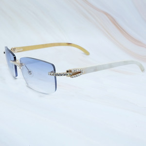 """Дизайнерские дешевые очки Продажа Солнцезащитные очки """"Удаление роскоши carter cubic Zircon Buffalo Horn Sun Glass без пули алмазных солнц"""