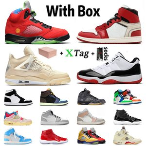 Kutu ile stock x Ayakkabı nike air retro jordan 1 mid jordans jumpman 1s Erkekler kadınlar basketball shoes 4 off white sail 5 sneakers low 11 concord high trainers
