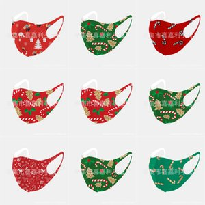 Navio Donald Trump 2020 Rosto de Natal Mask pano anti-poeira Natal Fun Cotton EUA WomanUnisex forma do inverno lavável Par Christma # 644123143666