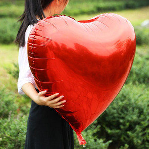 1pc 55cm Huge Heart Shape Balloon Aluminum Inflatable Foil Balloons For Birthday Wedding Party Decorations Helium Balloon