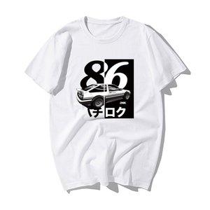 Moda japonesa Deriva Anime Initial D Verão fresco ocasional Ae86 camisa dos homens t mangas curtas Initial D moletom com capuz Hoodie