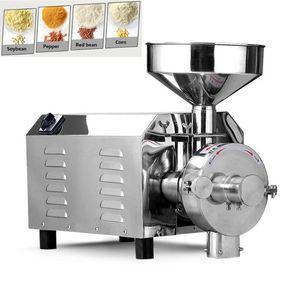 3000W Ticari İnce Öğütücü / Elektrik Otlar Baharat Mısır Hindistan cevizi Tahıl Taşlama / Tahıl Mısır Freze Makinesi