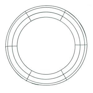 Ferro floreale corona corona corona telaio in filo metallico per anelli per il nuovo anno decorazione di San Valentino (14 pollici) 1
