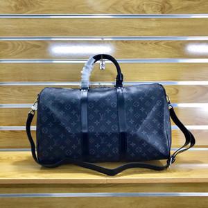 55см Большой емкости Duffle Сумки Сумки Мода сумки Мужские сумки Gym выходные 41418 Black Travel Bag