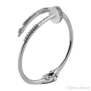 Bracelet ongles Bracelet pour les femmes d'or ouvert Clou Bangle Bracelet