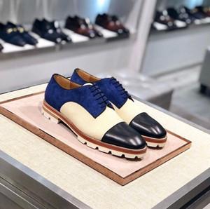 Perfekter Gentleman roter unterer Löwenzahn Tassel Loafer Schuhe Luxus Designer Slip auf Spikes Männer Oxford Flat Party Hochzeit