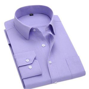 MacRosea Classic Style Solid manica lunga camicie casual camicie casual confortevoli abbigliamento da ufficio traspirante da uomo