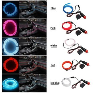 EL Car Cold Light Line Car LED Line Girly car accessories interior 1 Meters