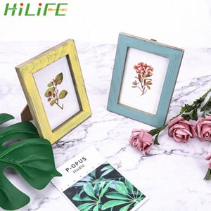 HILIFE 5 ألوان خمر إطار الصورة خشبي زفاف زوجين صور إطارات هدية ديكور المنزل الإبداعية JyPC #