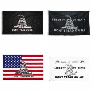90 * 150cm Gadsden-Flagge TRETEN NICHT AUF MIR Snake Flag USA Presidential Americal Flaggen Gadsden Flaggen CYZ2900