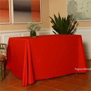 Popular Conference Tablecloth Customize Tablecloths Custom Printing Pure Color Rectangle Circular Table Skirt Easy To Use 6 5dx dd
