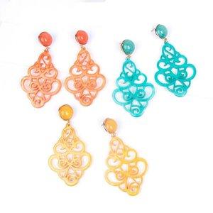 Fashion Resin Acrylic Vintage Drop Earring Colorful Big Long Earrings Women Punk Statement Bohemian Earings Hanging